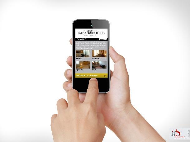 Realizzazione sito web per mobile e smartphone per b b for Sito mobili